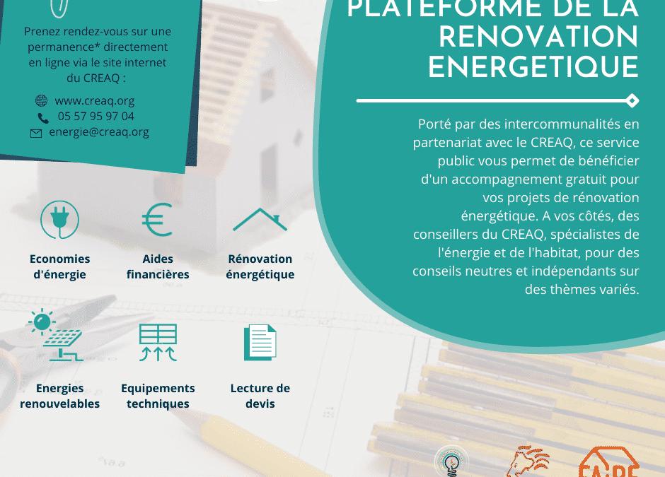 Plateforme Territoriale de la Rénovation Energétique (PTRE)